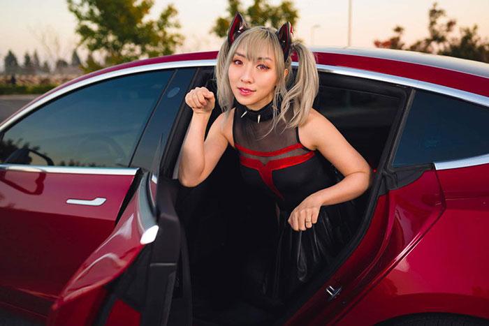 Tesla Cat Girl Cosplay
