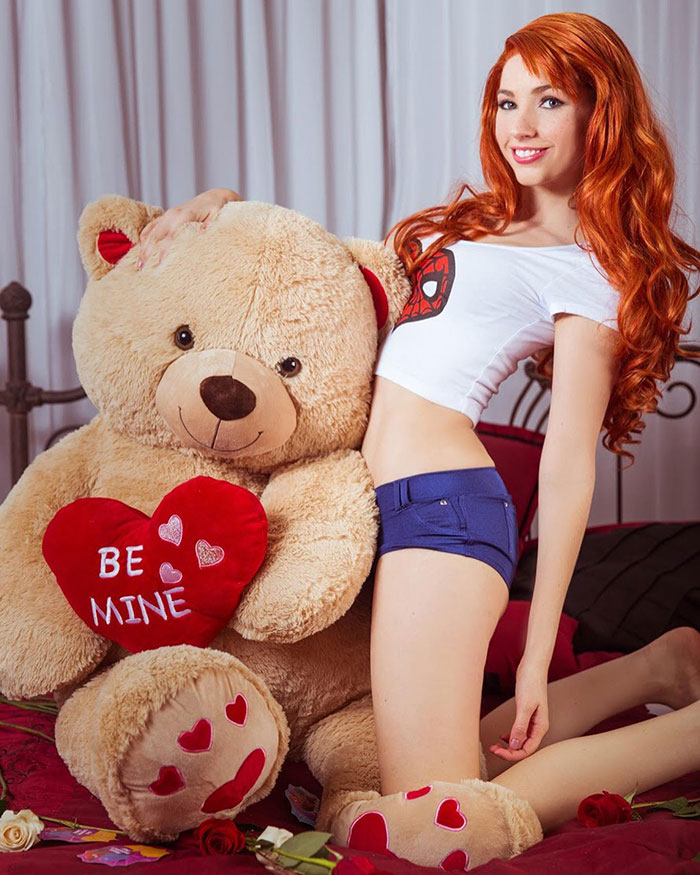 Valentines Day Mary Jane from Spider-Man Cosplay