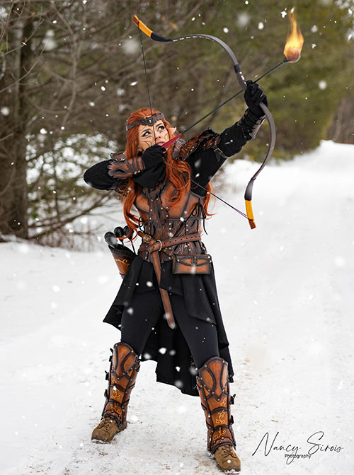 Elven Archer Fantasy Photoshoot