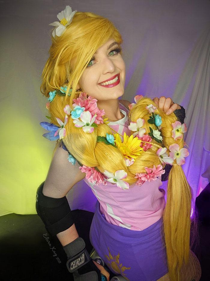 Roller Derby Rapunzel Cosplay