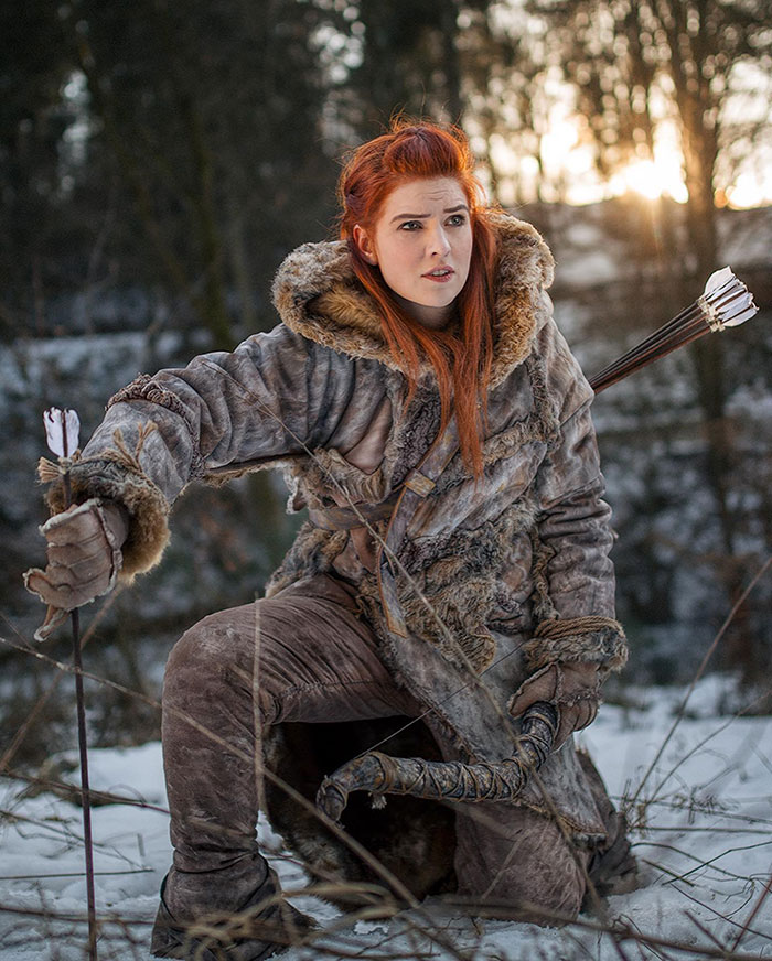 Ygritte and Jon Snow from Game of Thrones Cosplay