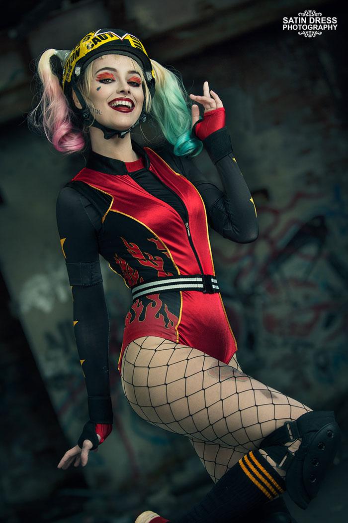 Roller Derby Harley Quinn from Birds of Prey Cosplay