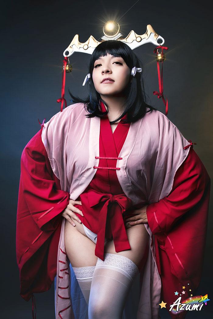 Kaguya from Kuroinu Kedakaki Cosplay