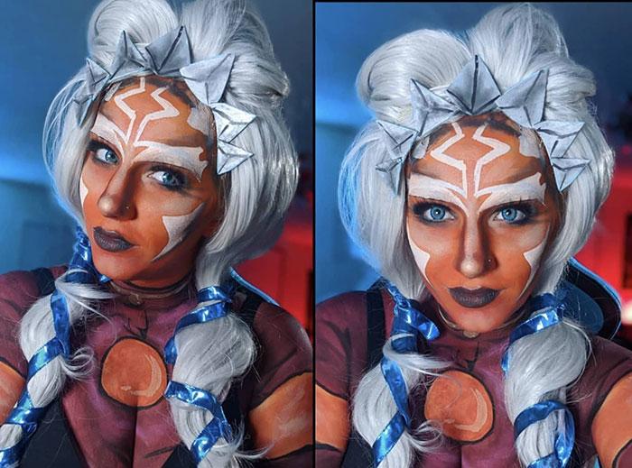 Ahsoka Tano from Star Wars Body Paint