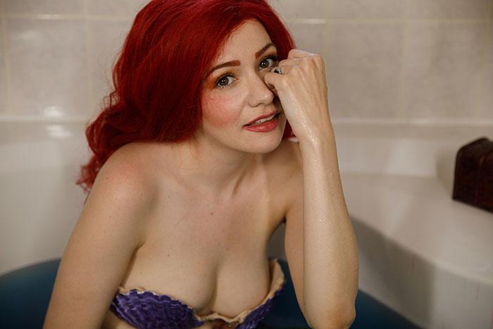 Ariel from The Little Mermaid Bathtub Cosplay