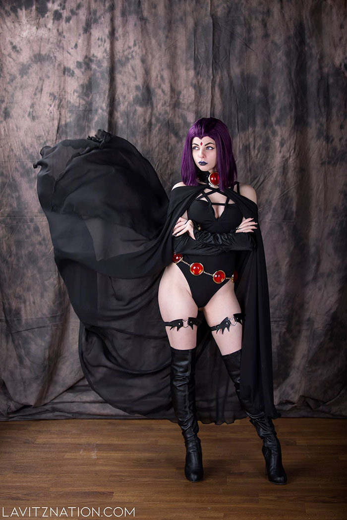 Goth Raven from Teen Titans Cosplay