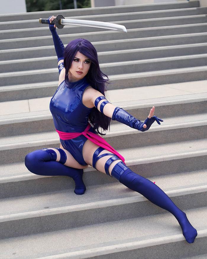Psylocke from X-Men Cosplay