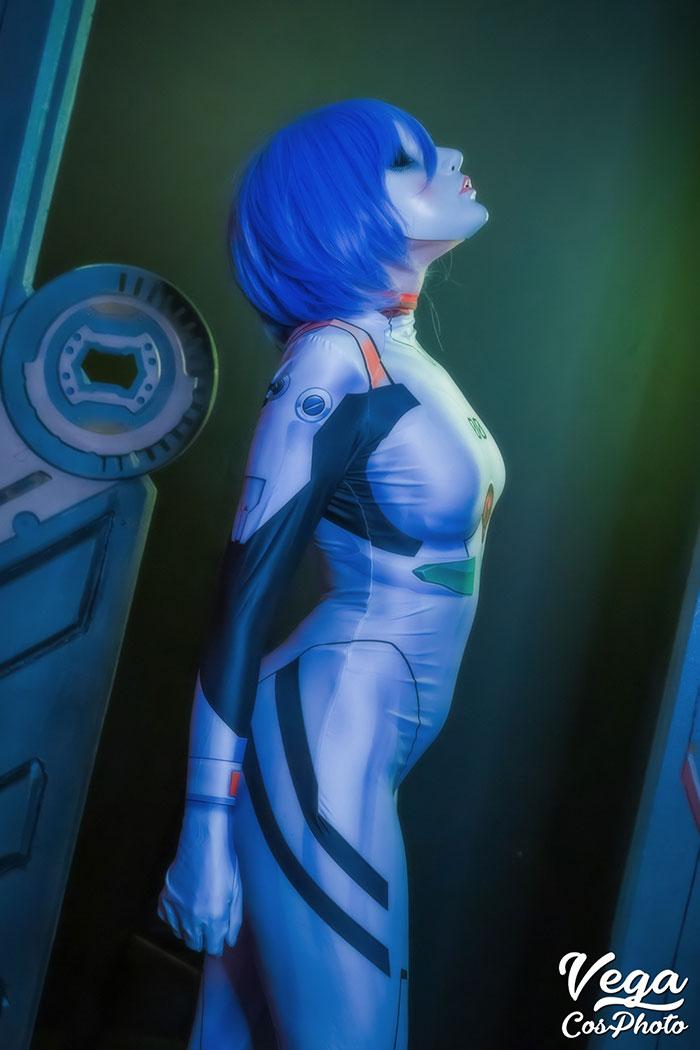 Rei Ayanami from Neon Genesis Evangelion Cosplay