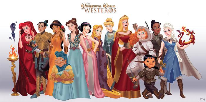 Disney Ladies as Game of Thrones Characters