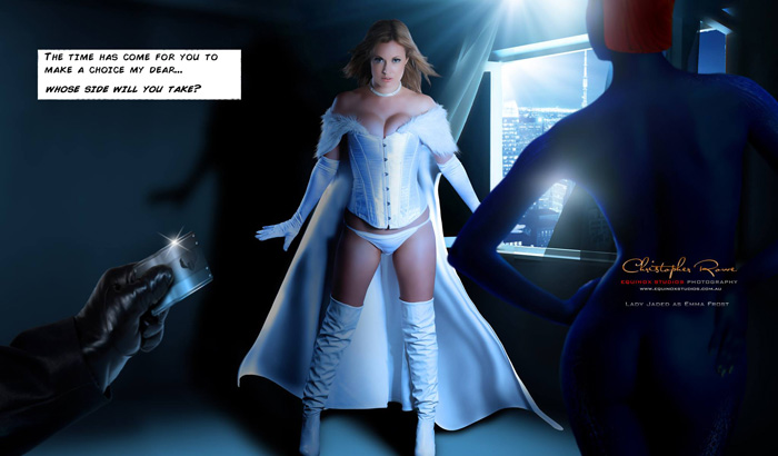 lady jaded looks drop dead gorgeous cosplaying as emma frost here