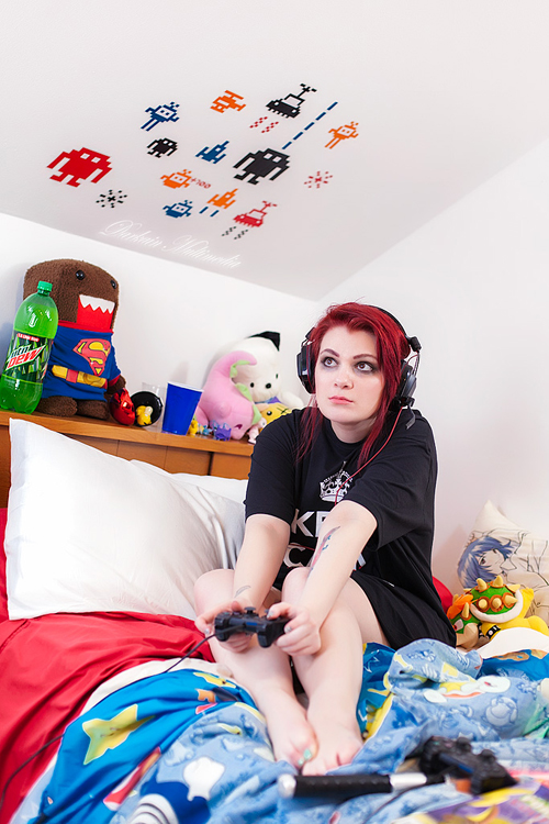 Teen gamers in socks riding their toys - 2 2