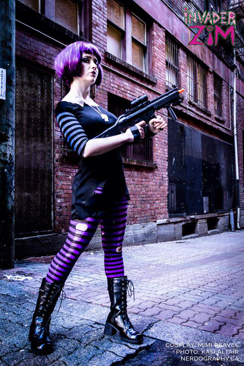Post Apocalyptic Gaz From Invader Zim Cosplay