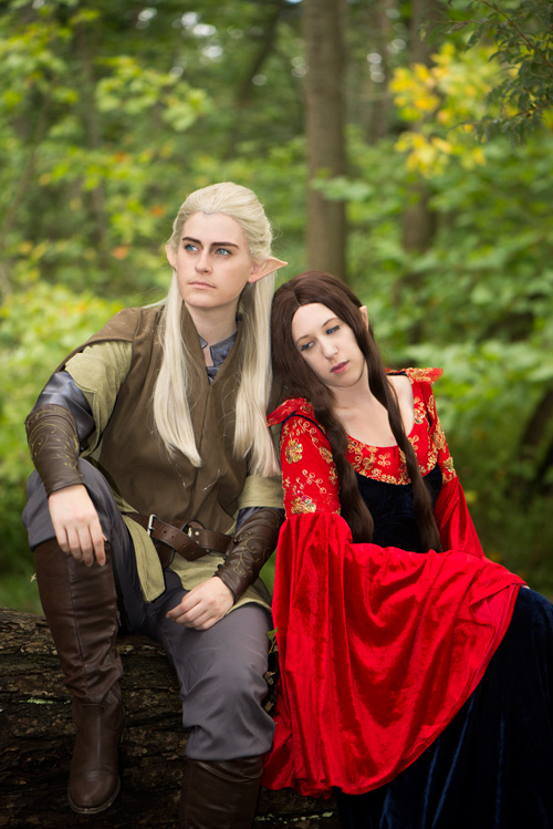 Legolas and Arwen from Lord of the Rings Cosplay