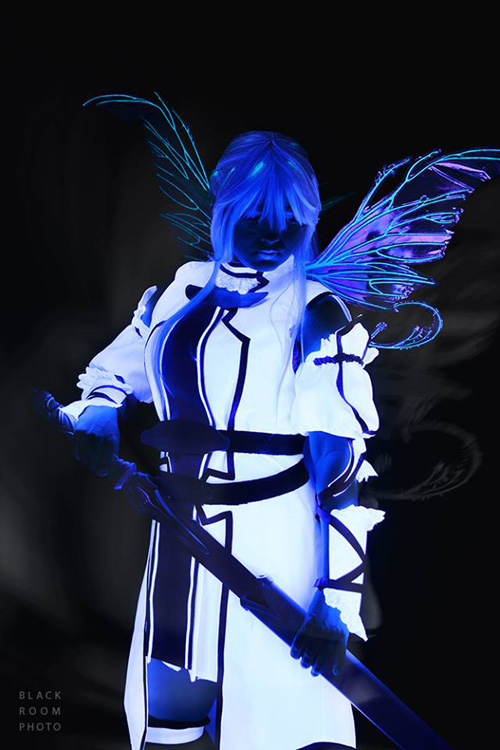 Undine Asuna Black Light Cosplay