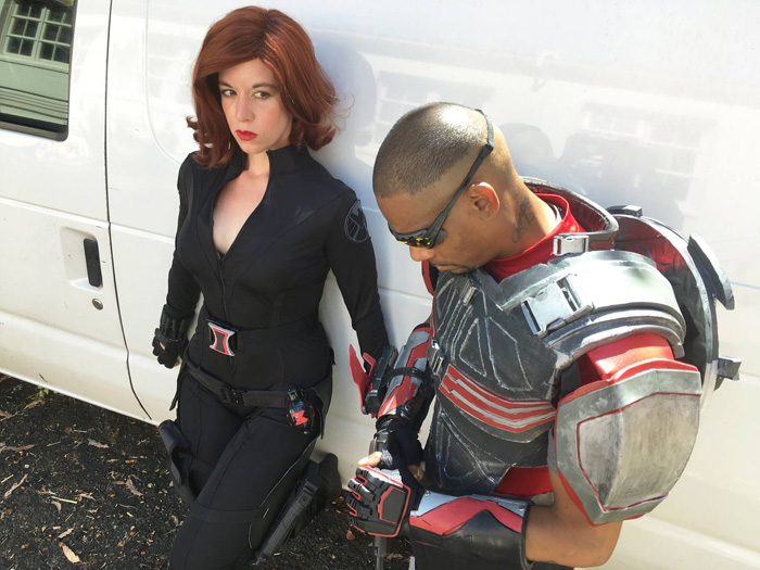 Black Widow & Falcon Cosplay