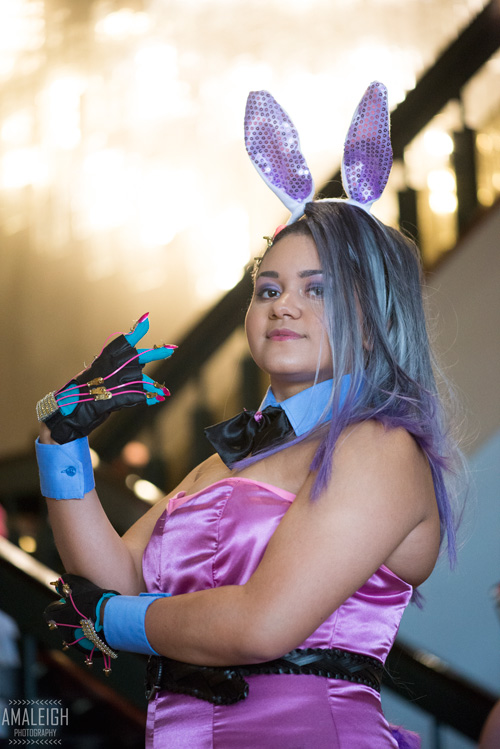 Bunnysuit Sombra from Overwatch Cosplay