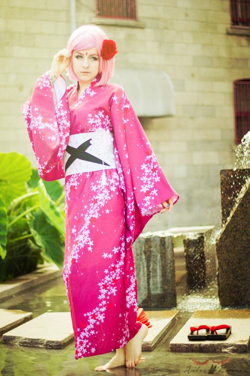Kimono Sakura Haruno from Naruto Shippuden Cosplay