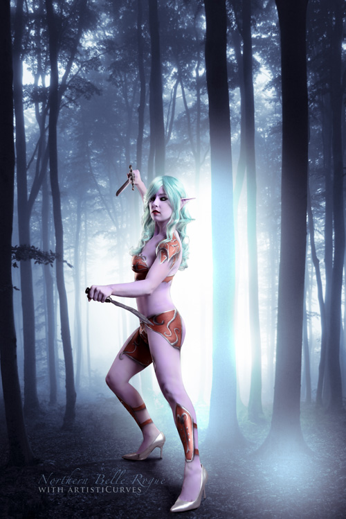 Tyrande from Warcraft Body Paint