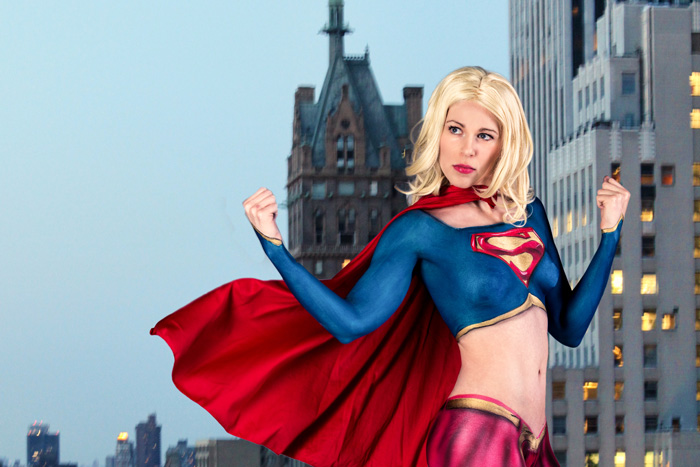 Supergirl Body Paint