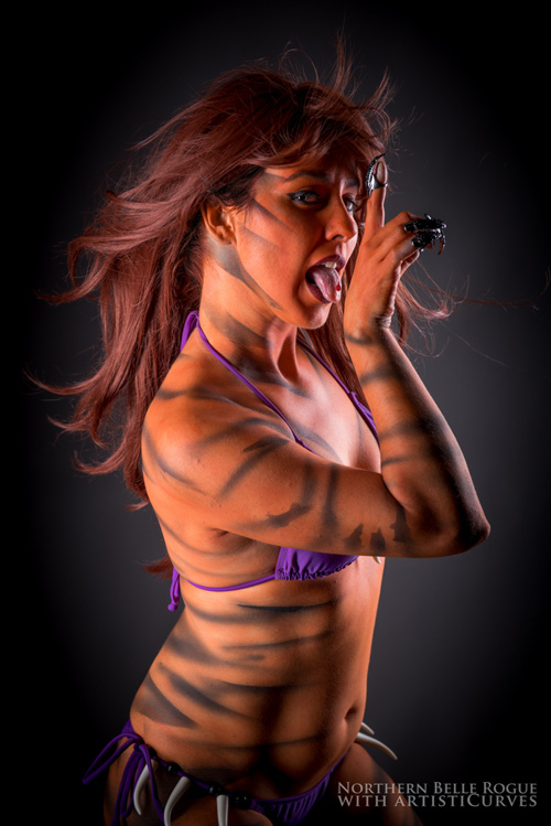 Tigra Body Paint Photoshooot