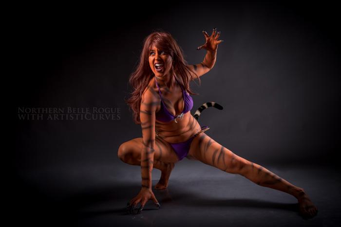 Tigra Body Paint Photoshooot