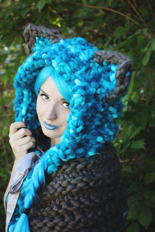 Cheshire Cat Hood Photoshoot