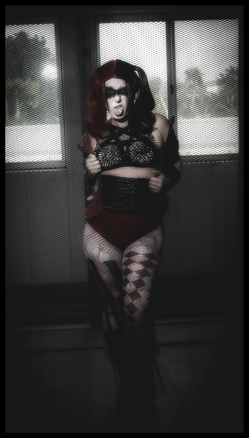 Black Metal Harley Quinn Cosplay