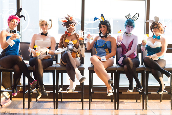 Overwatch Bunnysuits Group Cosplay