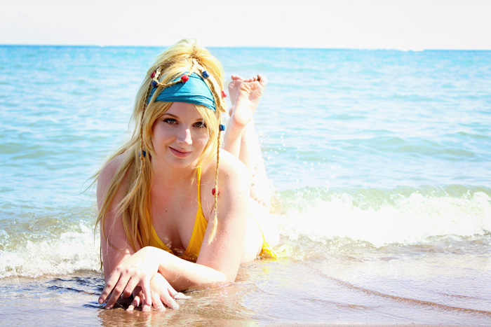 Rikku Bathing Suit Photoshoot