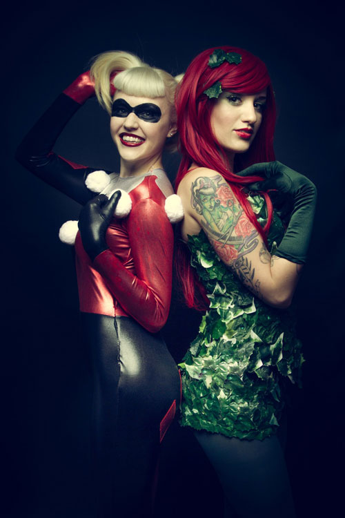 ivy poison cosplay and quinn Harley