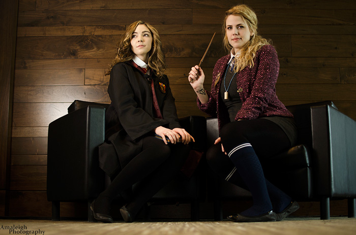 Luna Lovegood & Hermione Granger from Harry Potter Cosplay