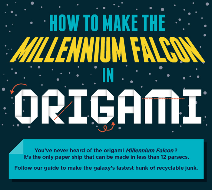 How To Make The Millennium Falcon in Origami