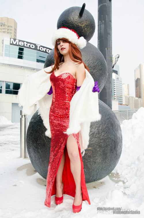 Christmas Jessica Rabbit Cosplay