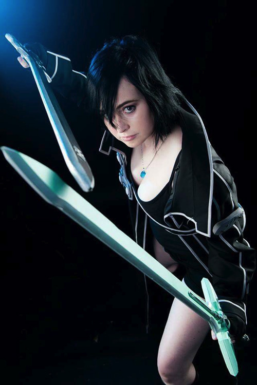 genderbent kirito from sword art online cosplay