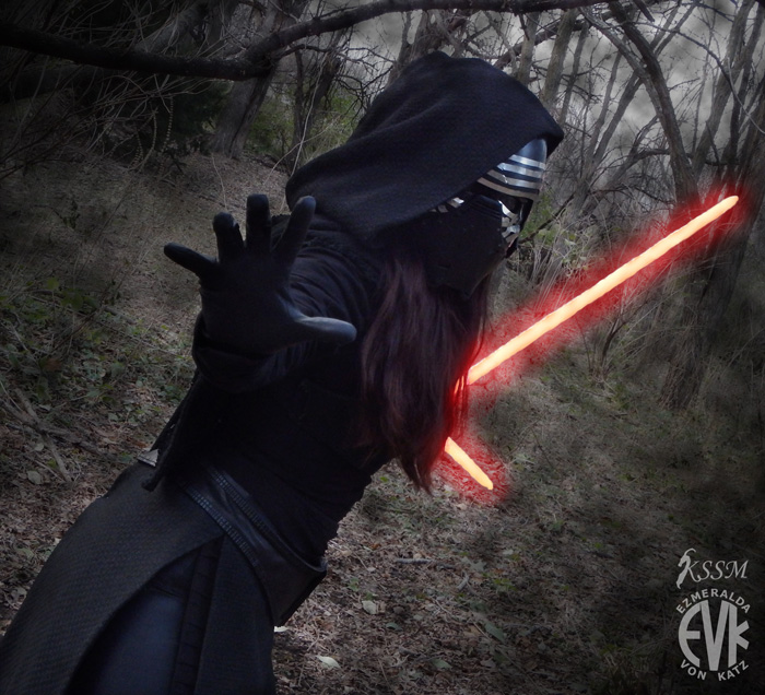 Femme Kylo Ren from Star Wars: The Force Awakens Cosplay
