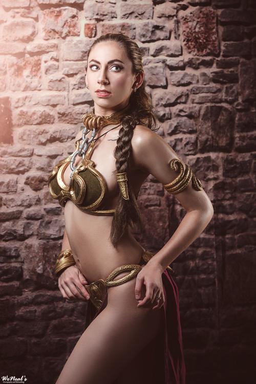 Star wars princess leia slave girl cosplay