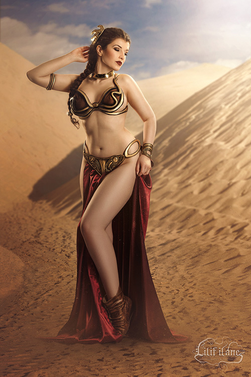 Difficult princess leia slave cosplay excited too