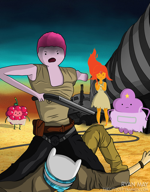 Mad Max Fury Road Adventure Time Fan Art