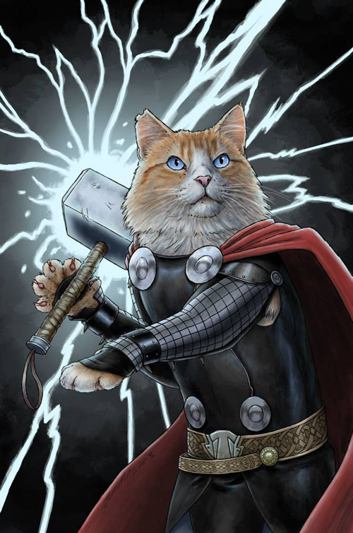 Marvel Cat Art