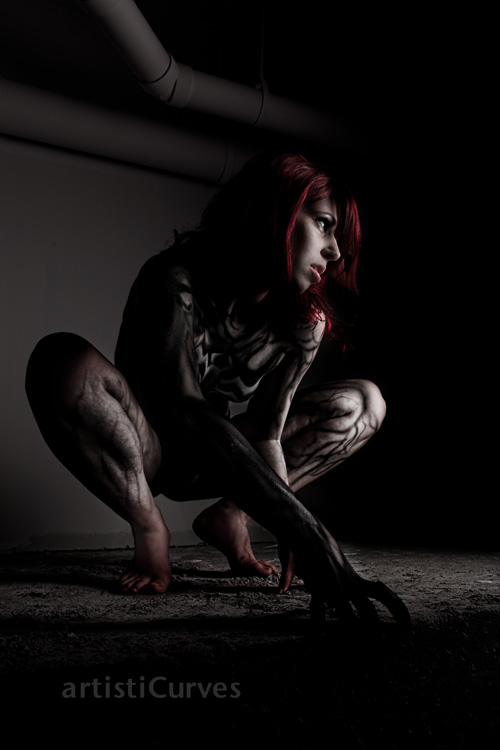 Mary Jane Symbiote Body Paint