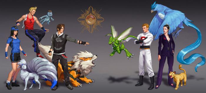 Final Fantasy Characters as Pokemon Trainers Fan Art