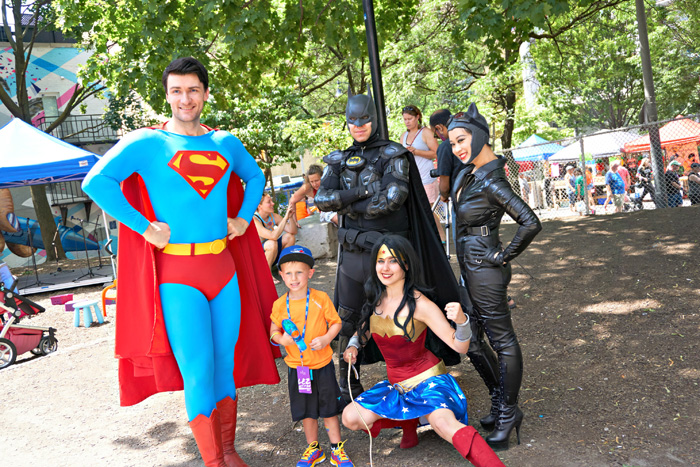 Justice League at Family Pride 2016