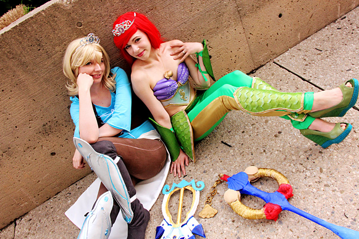 Warrior Princesses Cinderella & Ariel Cosplay