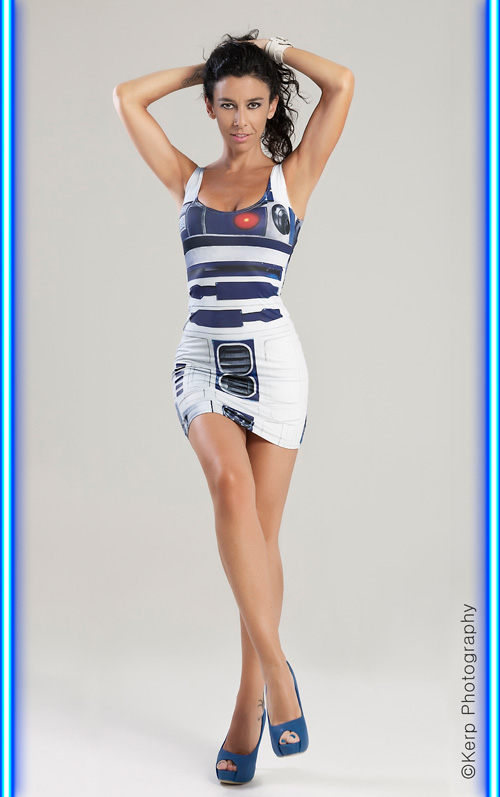 R2-D2 Dress Photoshoot