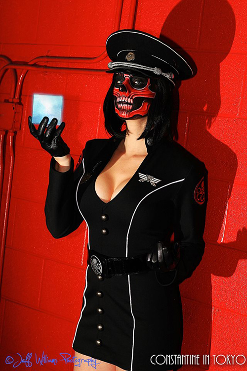 lady red skull cosplay