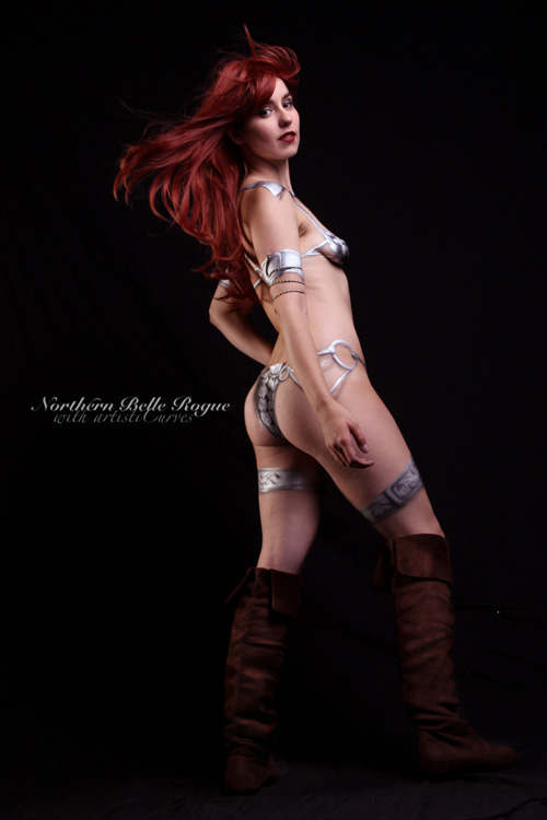 Red Sonja Body Paint
