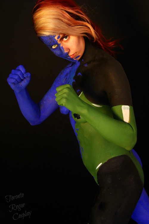 Rogue/Mystique Transformation Cosplay