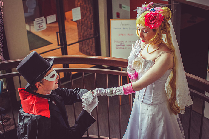 Sailor Moon and Tuxedo Mask Cosplay