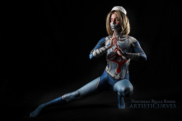 Sheik from Zelda Body Paint