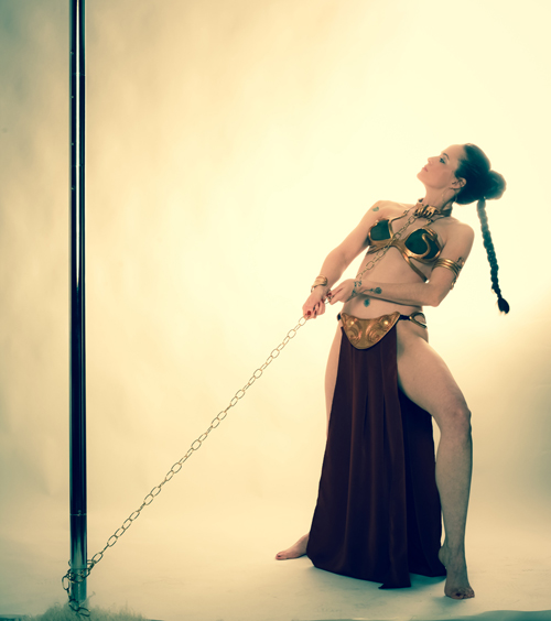 Slave Leia Pole Dance